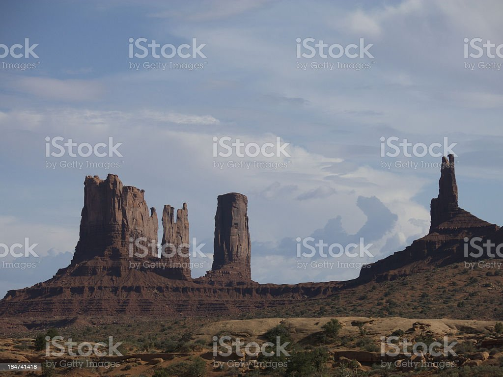 Utah Rock Spires royalty-free stock photo