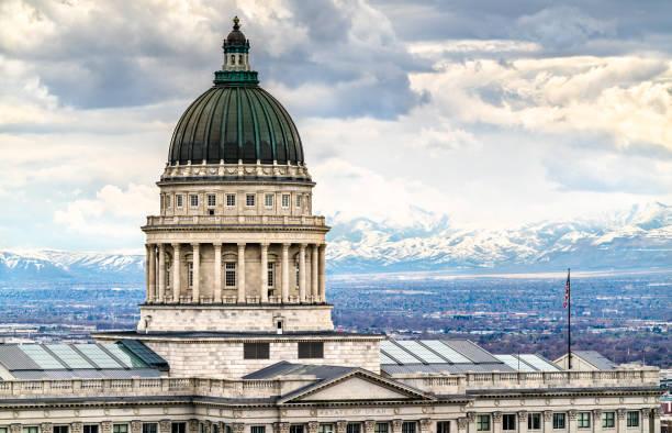Utah State Capitol Building in Salt Lake City stock photo
