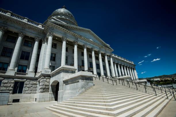 Utah State Capitol Building in Salt Lake City, UT stock photo