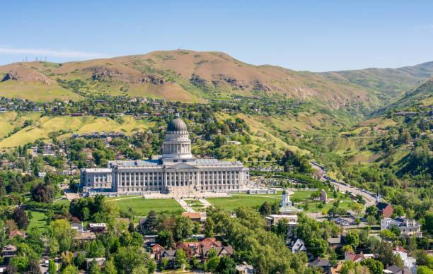Utah State Capitol in Salt Lake City stock photo