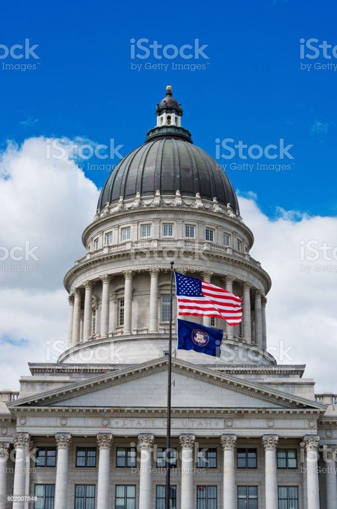Utah State Capitol, Salt Lake City, USA stock photo