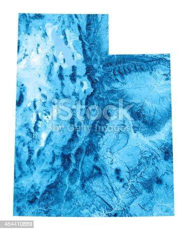 173169385istockphoto Utah Topographic Map Isolated 454410889