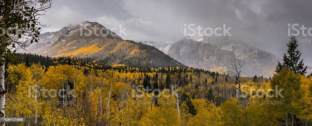 Utah, United States. In the Wasatch Mountains stock photo