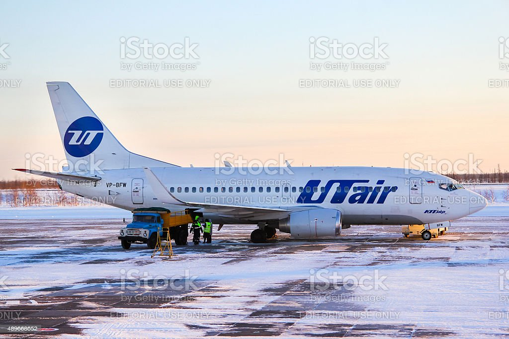 UTair Airlines Boeing 737 stock photo