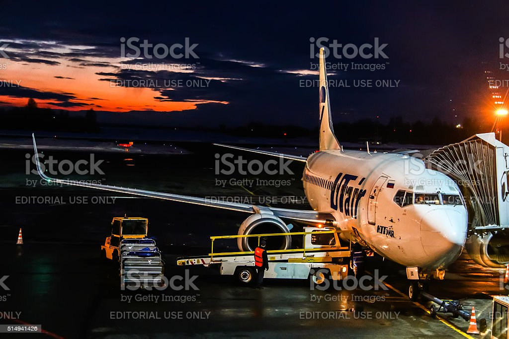 UTair Boeing 737 stock photo