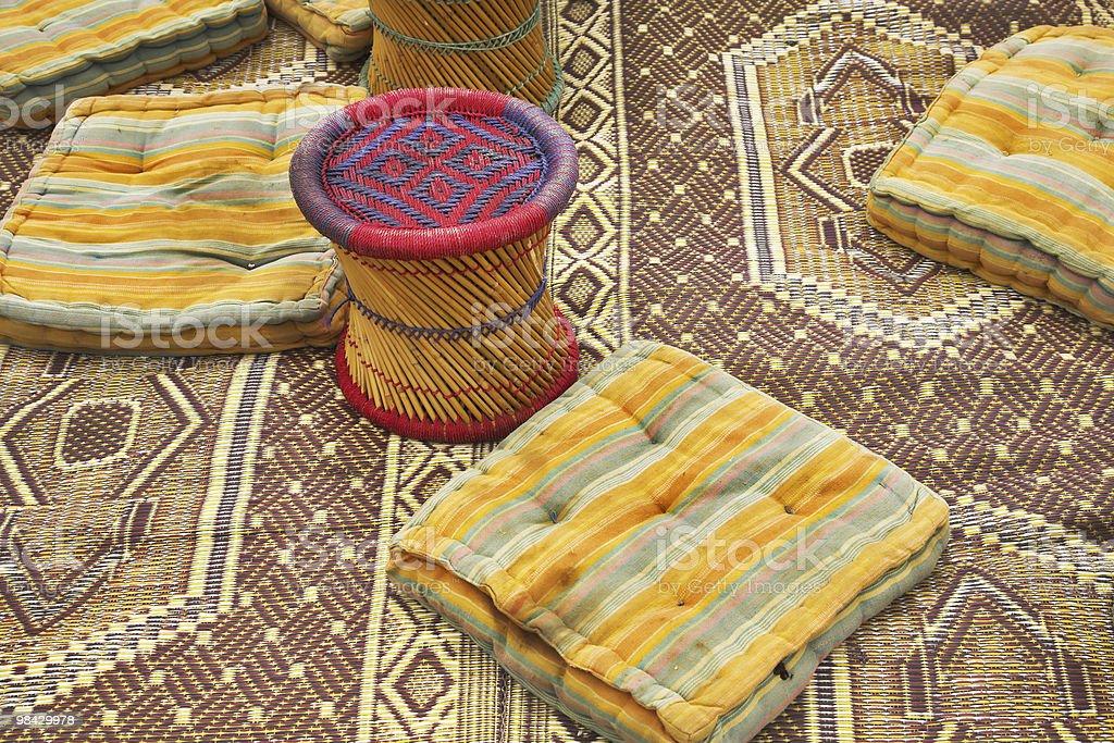 Utensils in bedouin tent royalty-free stock photo