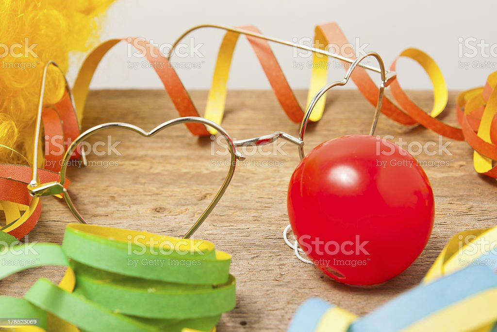 Utensils of a clown costume royalty-free stock photo