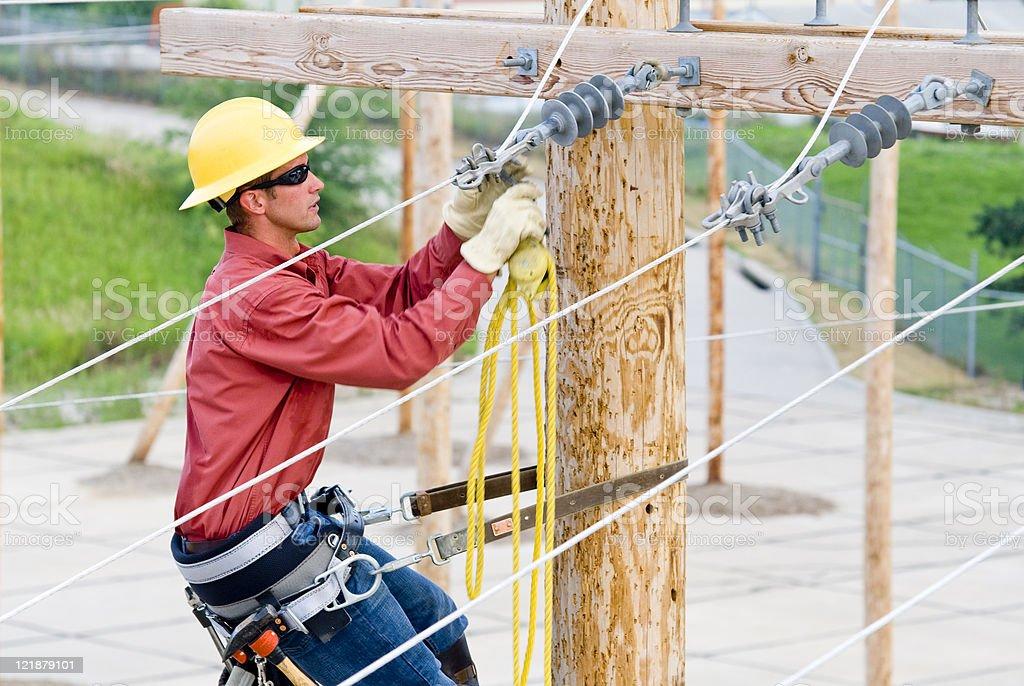 Utility Lineman royalty-free stock photo
