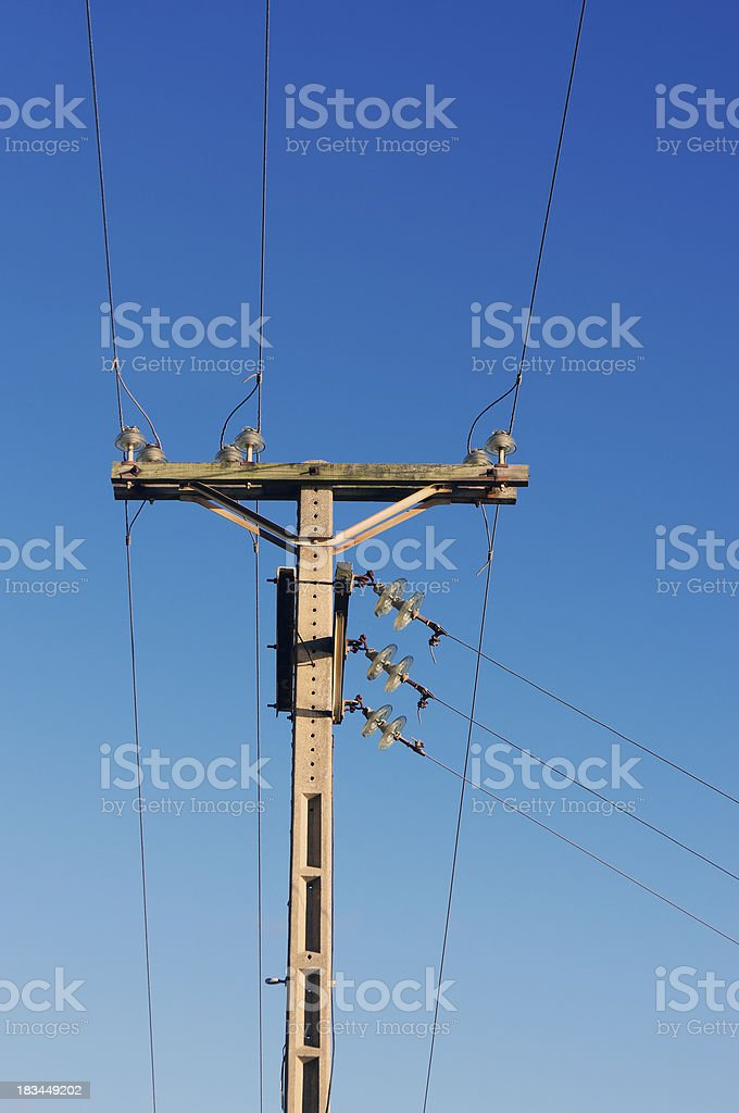 utility pole royalty-free stock photo