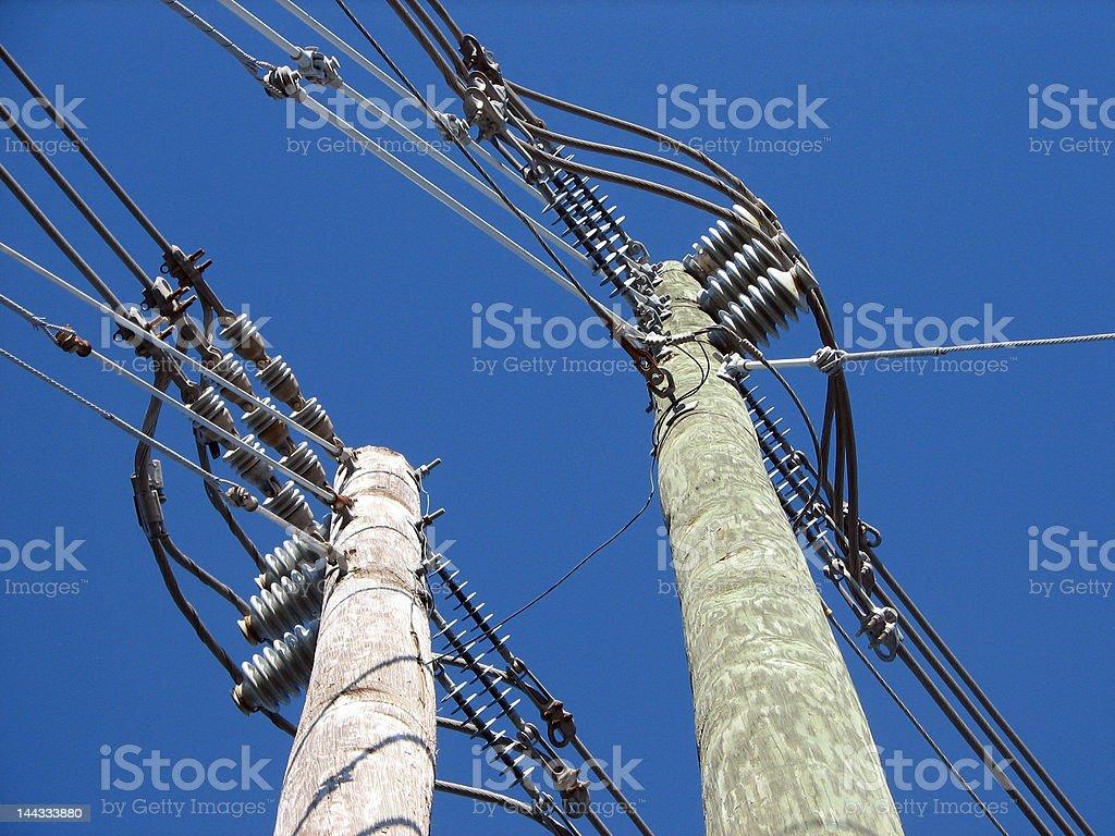 Utility Poles royalty-free stock photo
