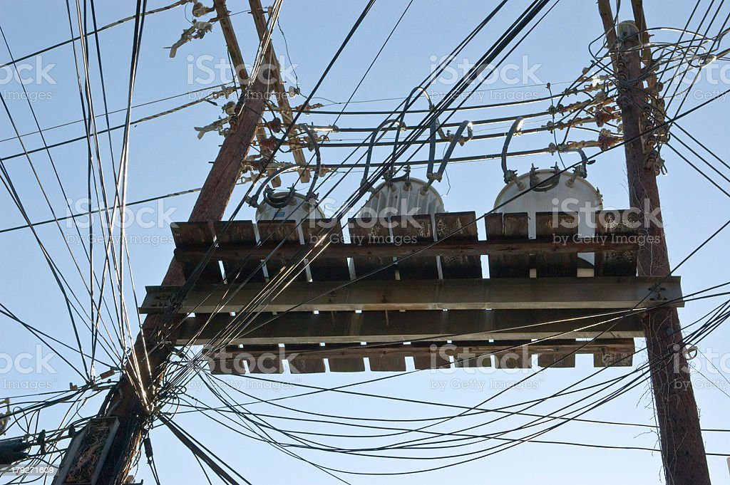 Utility Power Distribution royalty-free stock photo