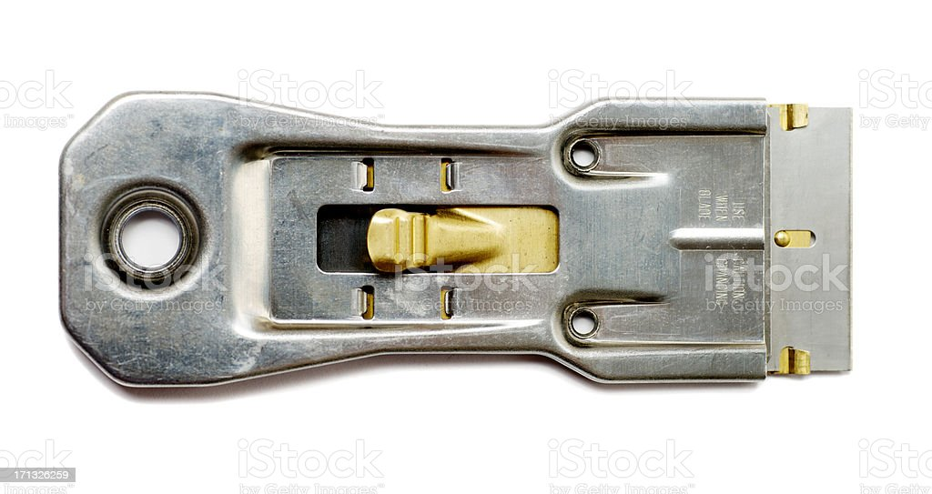 Utility Scraper Knife with Razor Blade royalty-free stock photo
