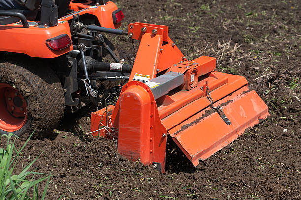 Utility Tractor With Tiller stock photo
