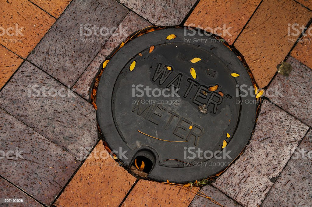 Utility Water Meter stock photo