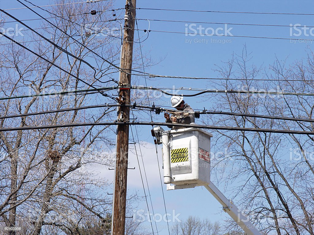 Utility Worker royalty-free stock photo