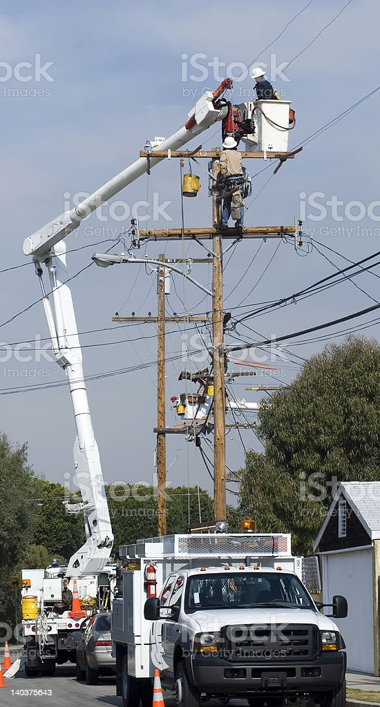 Utility workers stock photo