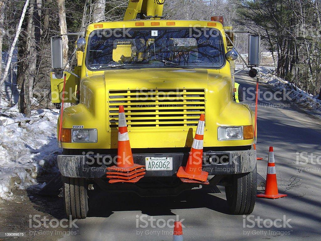 Utilty Truck Repair stock photo