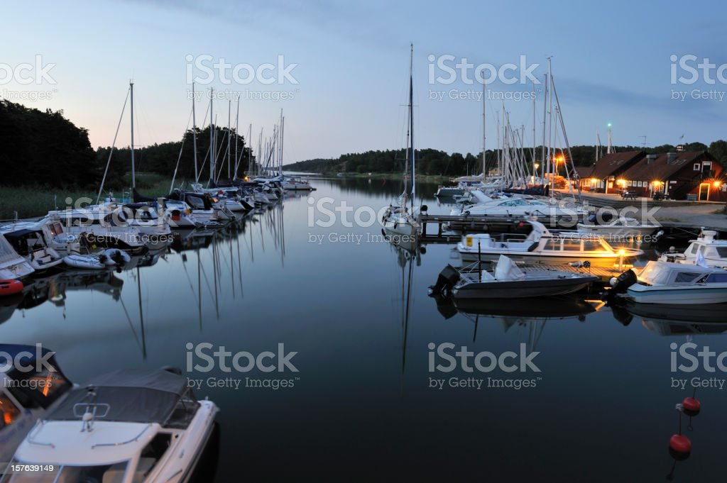 Uto harbour royalty-free stock photo