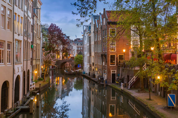 Utrecht cityscape - Netherlands stock photo