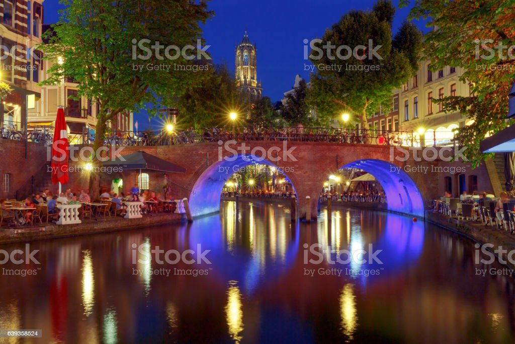 Utrecht. The city's main channel. stock photo