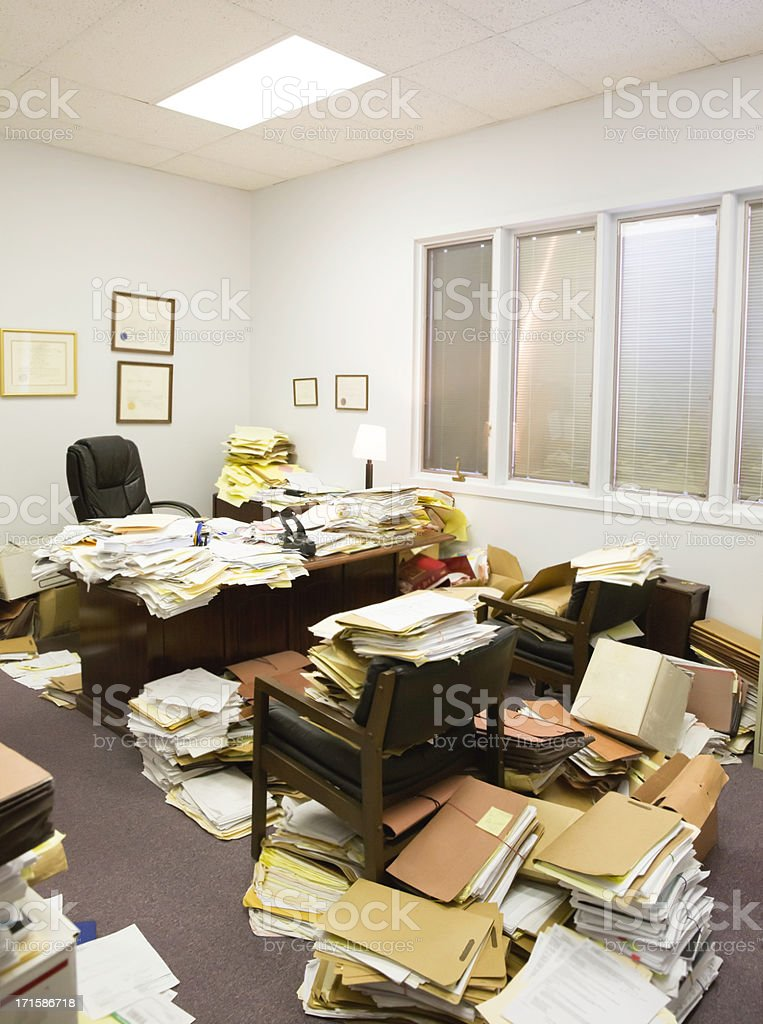 Utter Clutter- Professional paper hoarder royalty-free stock photo