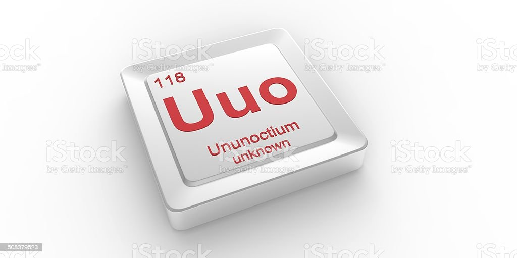 Uuo symbol 118 material for ununoctium chemical element stock photo uuo symbol 118 material for ununoctium chemical element royalty free stock photo urtaz