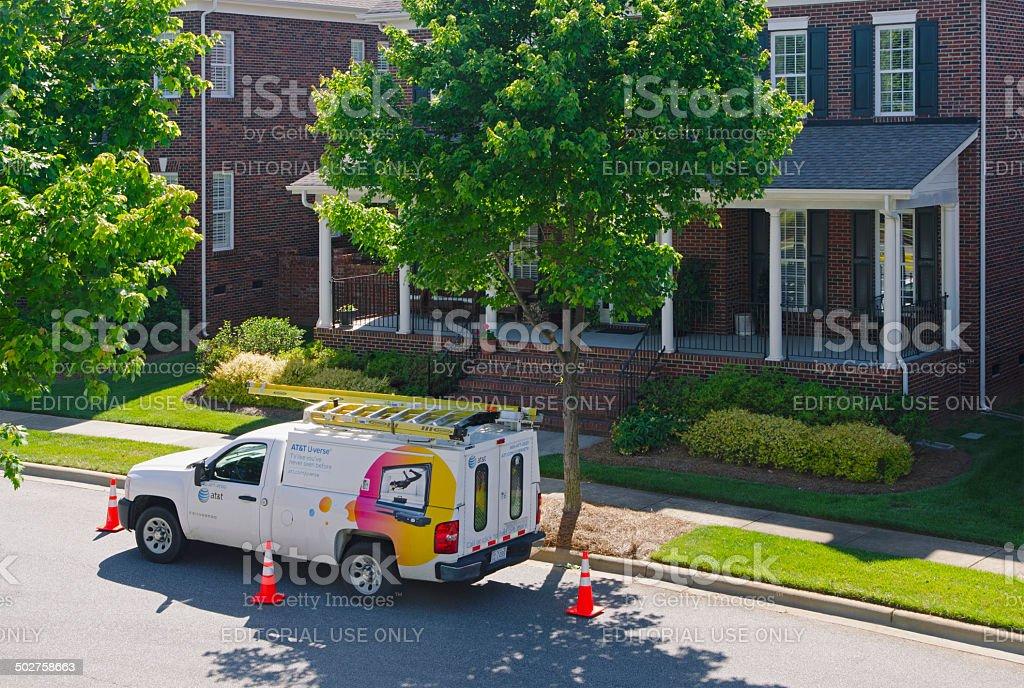 AT&T Uverse Cable Van royalty-free stock photo