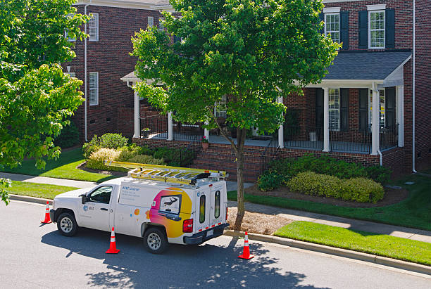 AT&T Uverse Cable Van stock photo