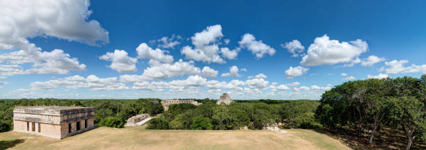 Uxmal archaeological site, Yucatan - Mexico stock photo