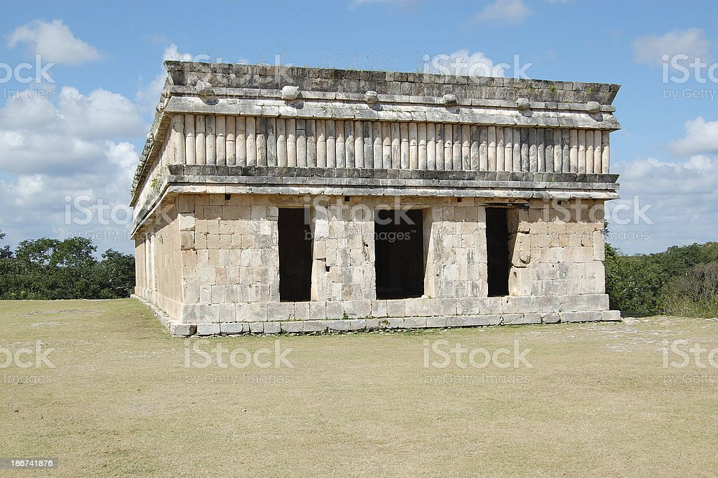 Uxmal Mayan House of the Turtles Mexico royalty-free stock photo