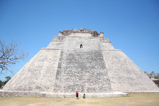 uxmal pyramid - uxmal stock photos and pictures