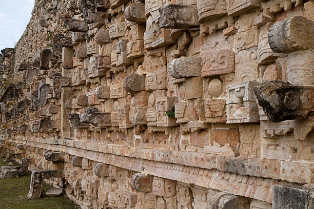 uxmal ruins - uxmal stock photos and pictures