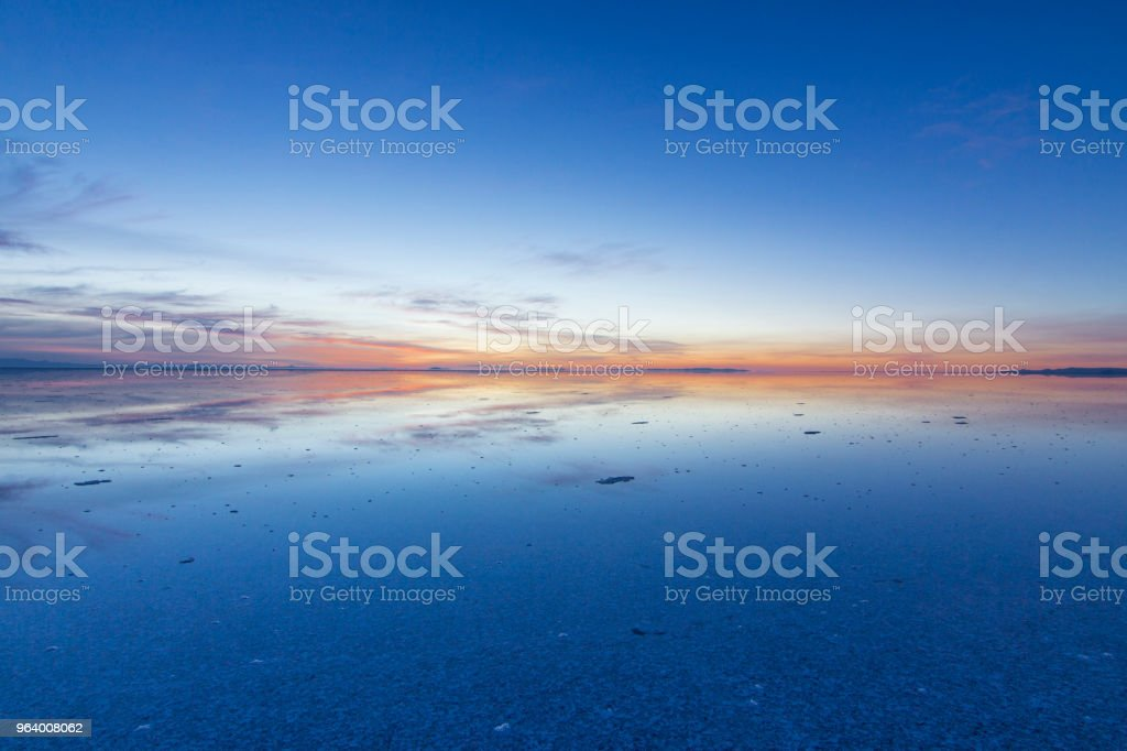 Uyuni reflections, an infinite horizon - Royalty-free Adventure Stock Photo