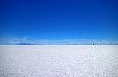 Uyuni salt flats or Salar de Uyuni, the world's largest Salt Flats, UNESCO World Heritage site in Bolivia, South America