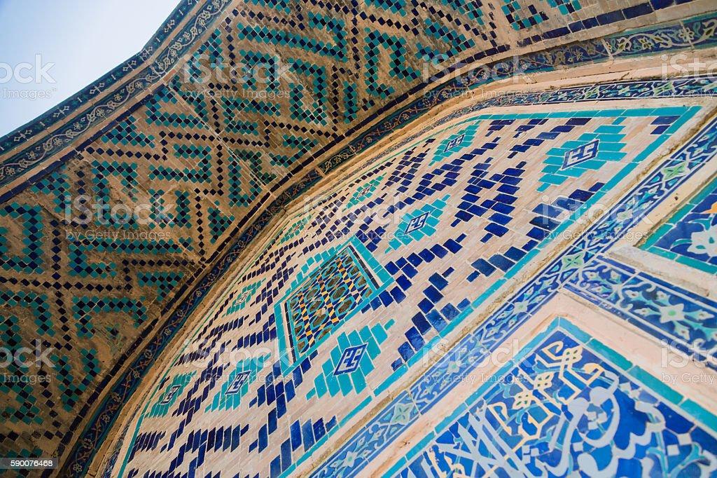 Uzbek Madrasa Ceiling stock photo