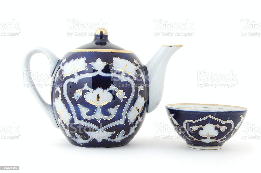 Uzbek Tea Set royalty-free stock photo