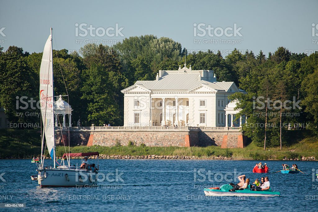 Uzutrakis Manor in Trakai stock photo