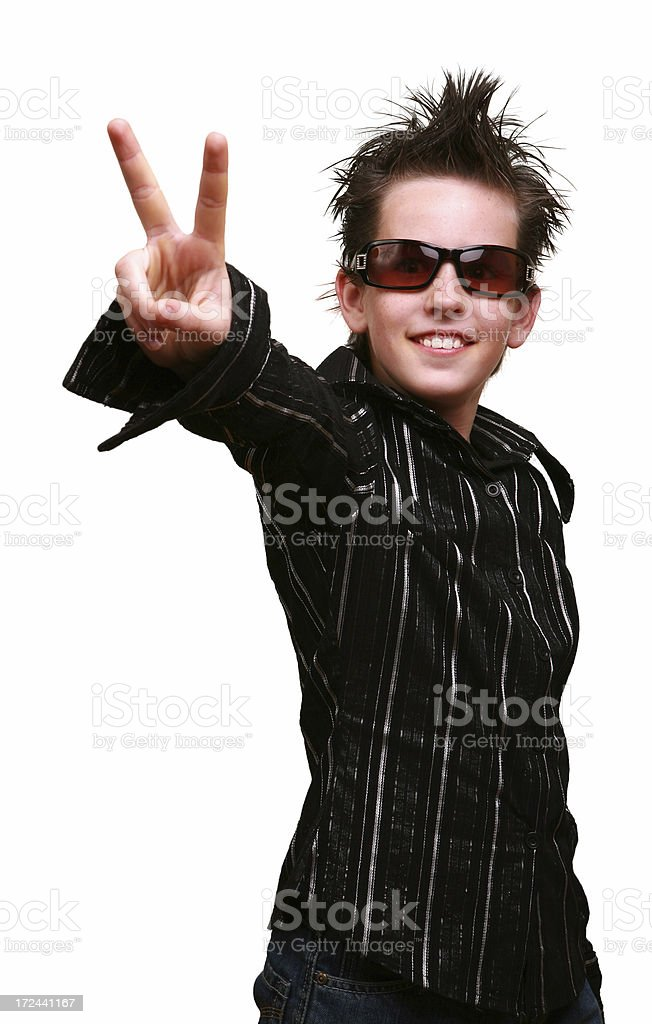 v for victory royalty-free stock photo