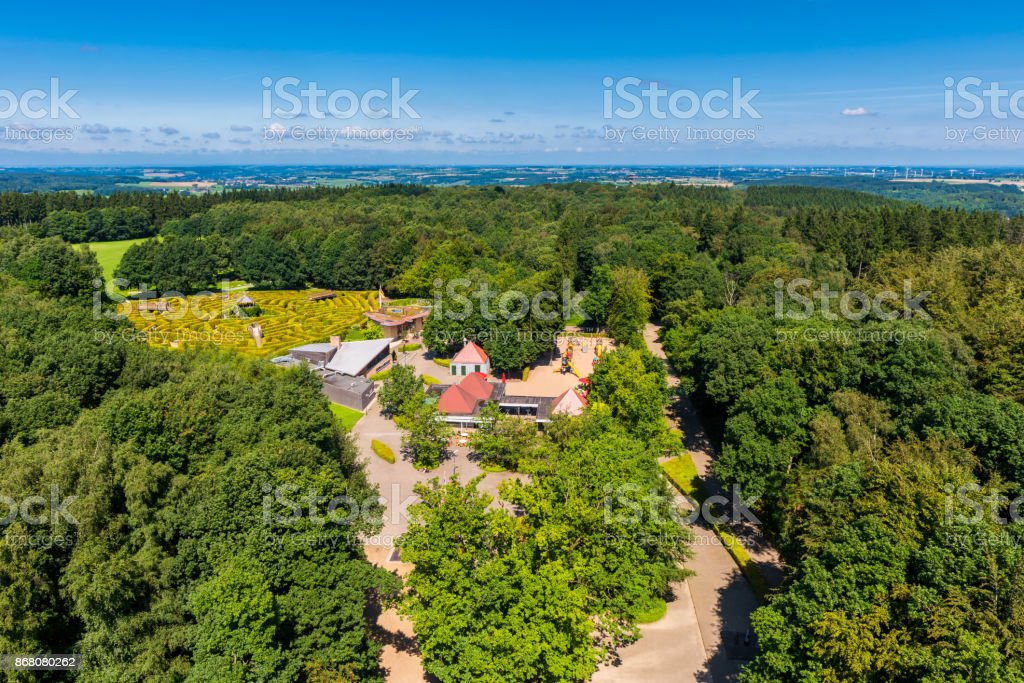 Vaalserberg Tripoint between The Netherlands Belgium and Germany stock photo