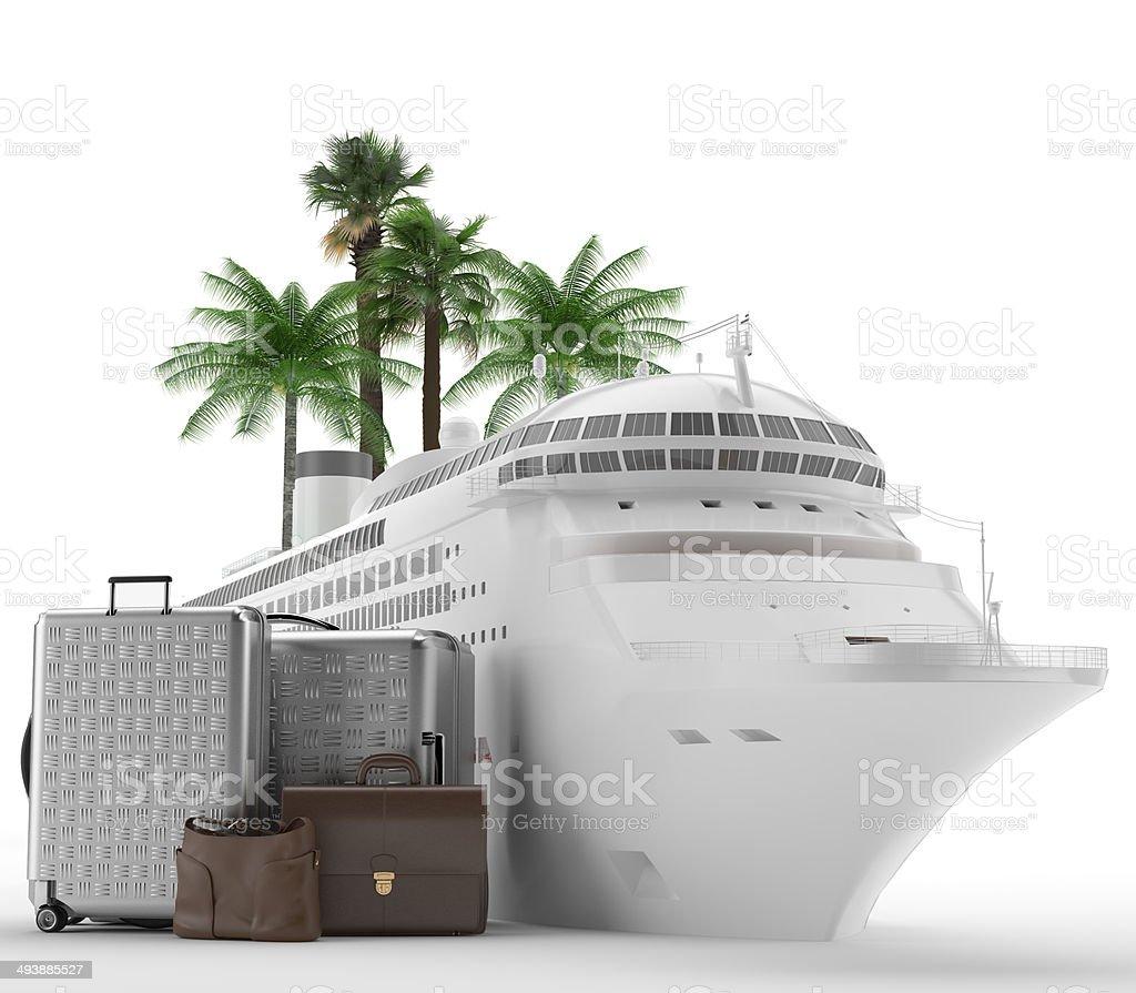 Vacaciones - Crucero - Luna de miel stock photo