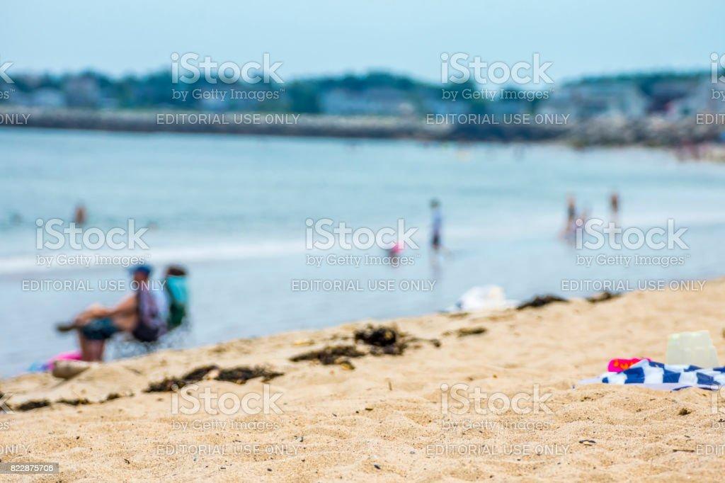 Vacanciers sur la plage stock photo