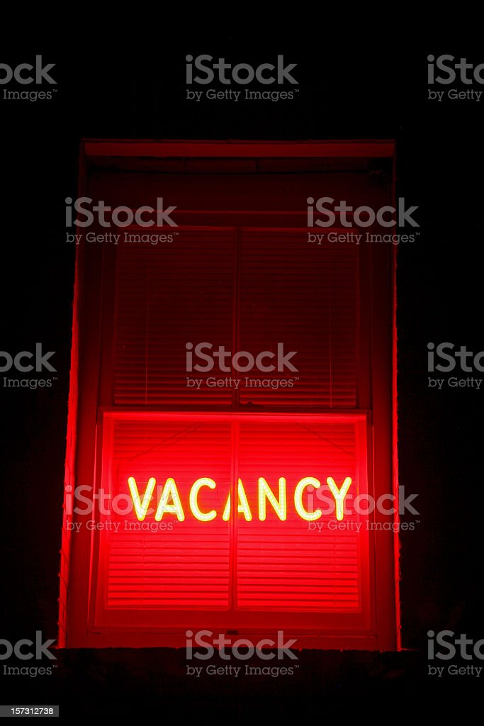 Vacancy Sign royalty-free stock photo