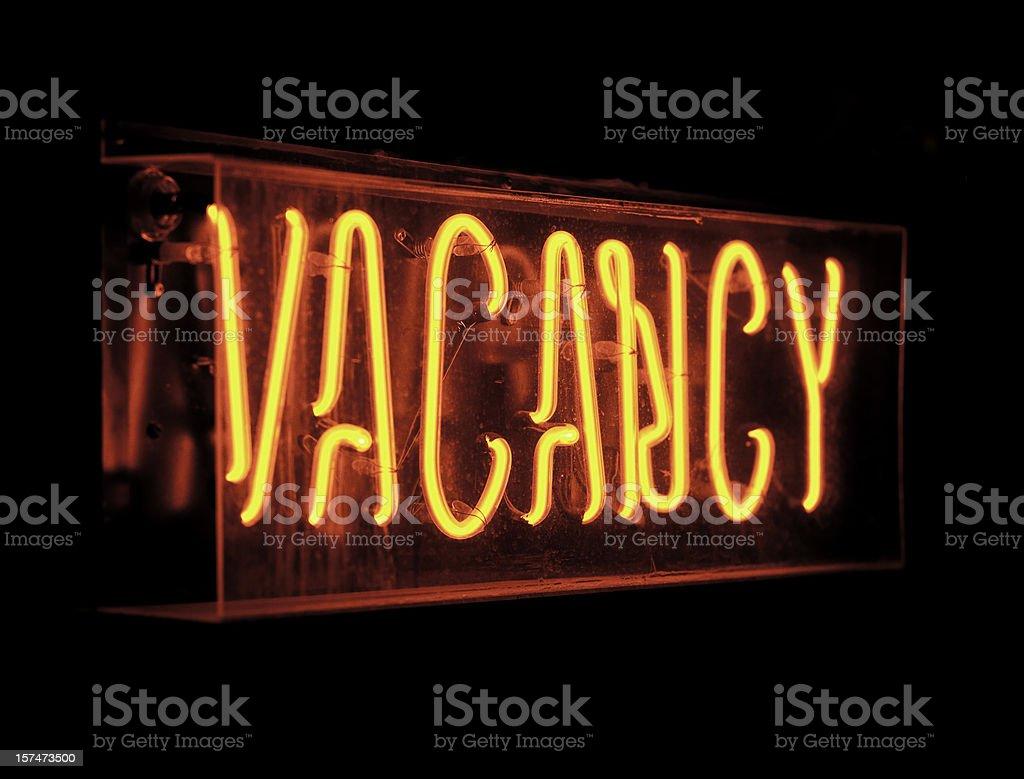 vacancy sign stock photo
