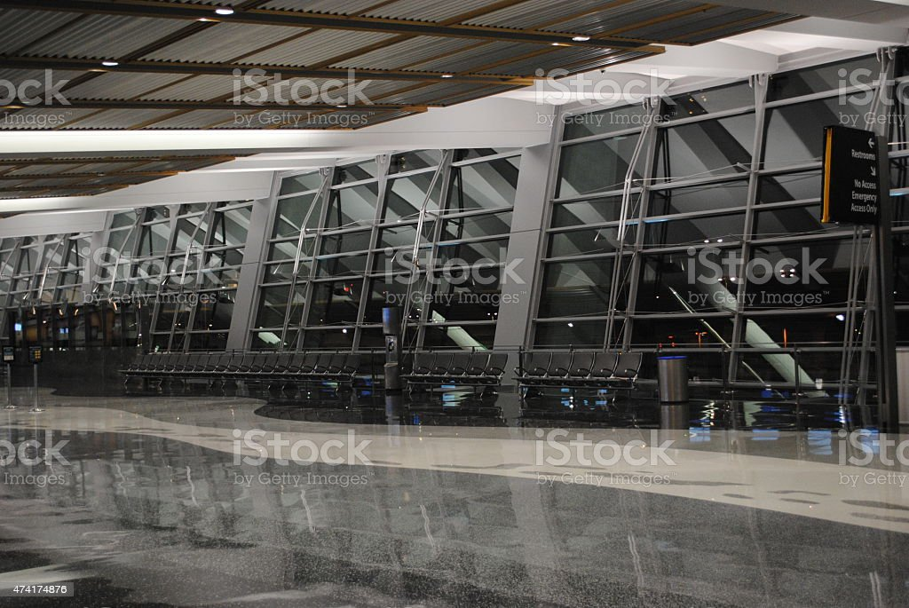 Vacant Airport stock photo