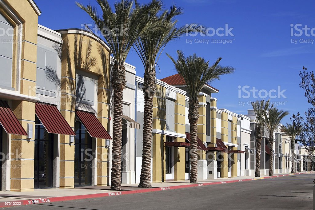 Vacant business park royalty-free stock photo