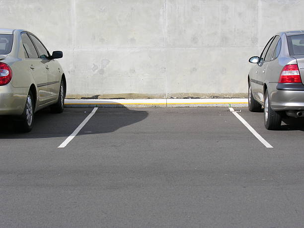 Vacant car parking space stock photo