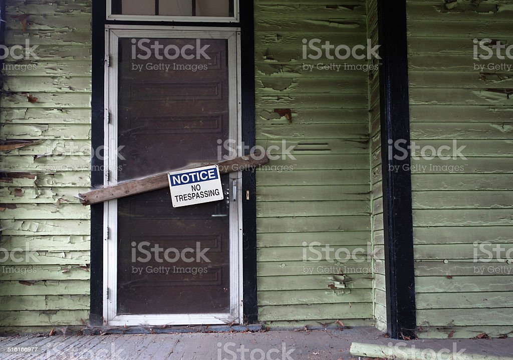 Vacant house stock photo