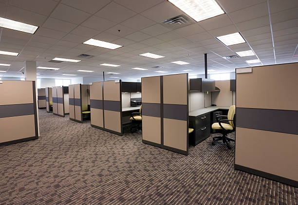 vacant office #3 - office cubicle stock pictures, royalty-free photos & images