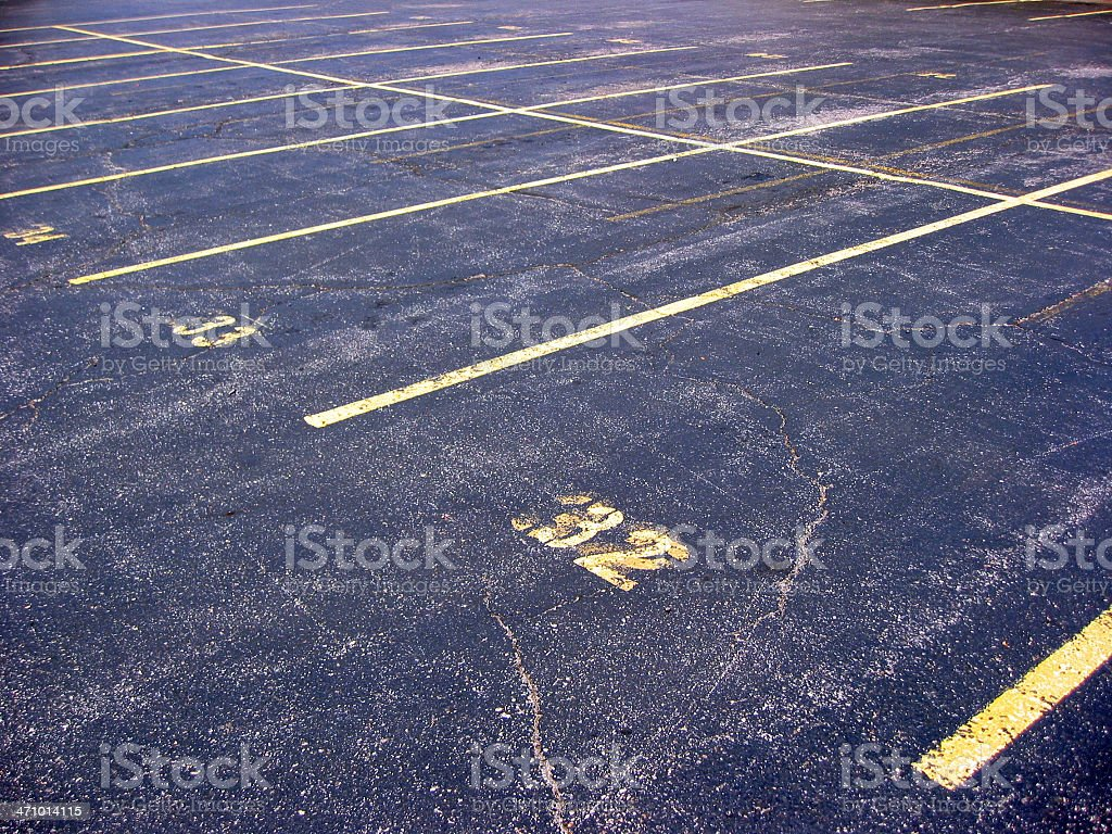 Vacant Parking Lot royalty-free stock photo