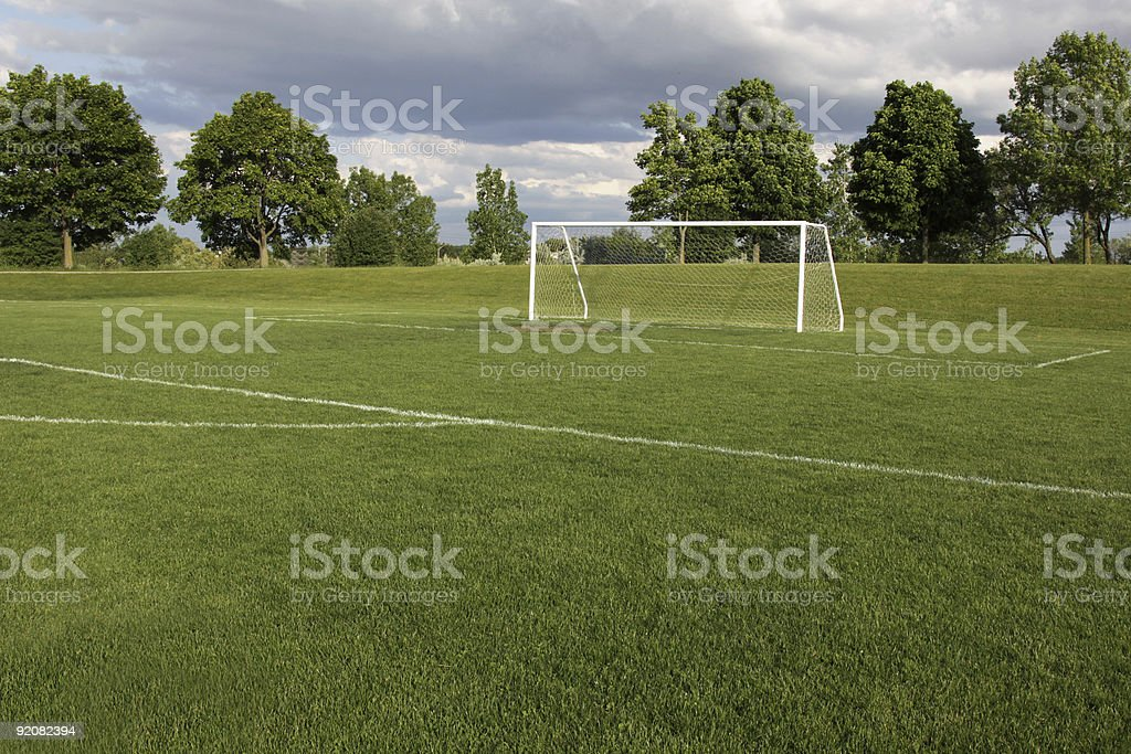 Vacant Soccer Pitch stock photo